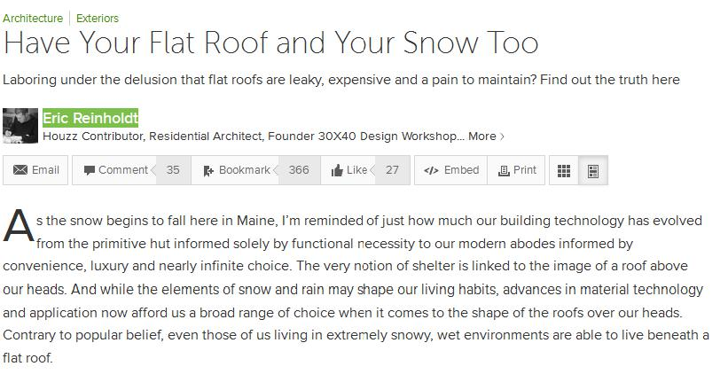 have your flat roof and your snow too